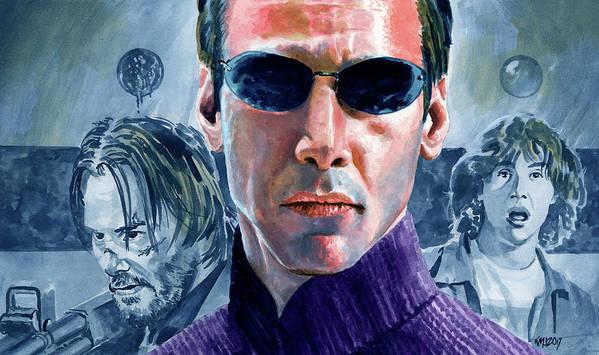 Keanu Reeves Art Print featuring the painting Reeves Redux by Ken Meyer jr