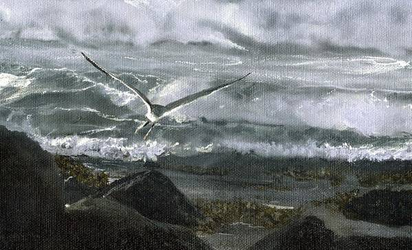 Art Print featuring the painting Stormy Flight 2 by Charles Parks
