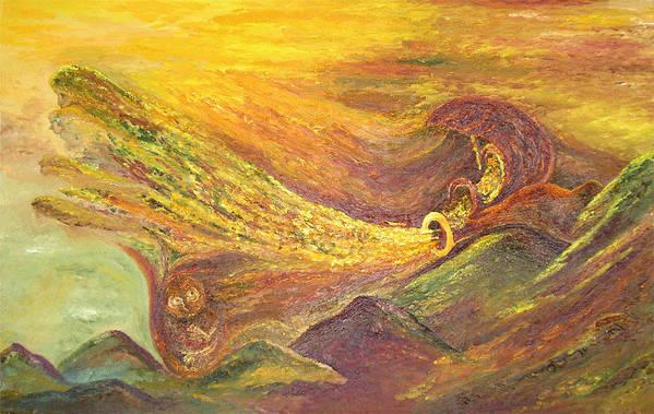 Autumn Art Print featuring the painting The Autumn Music Wind by Karina Ishkhanova