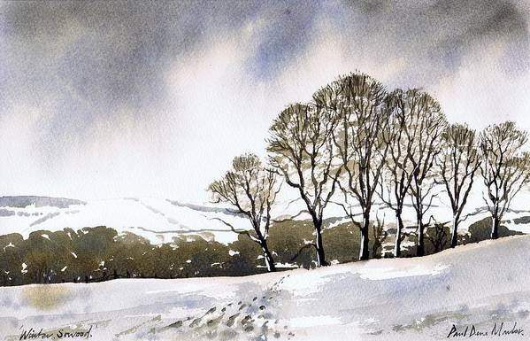 Winter Art Print featuring the painting Winter Sowood by Paul Dene Marlor
