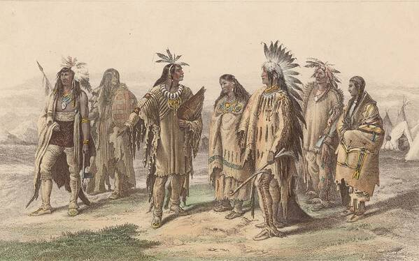 American Culture Art Print featuring the digital art Native Americans by Hulton Archive