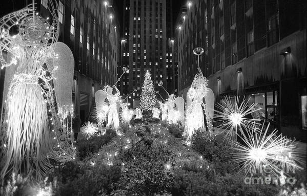 Holiday Art Print featuring the photograph Christmas Tree At Rockefeller Center by Bettmann
