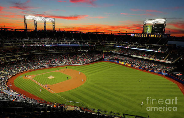 Residential District Art Print featuring the photograph Washington Nationals V New York Mets by Jim Mcisaac