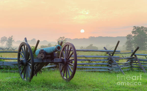 Scenics Art Print featuring the photograph Civil War Cannon by Tetra Images