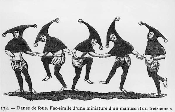 Performance Art Print featuring the photograph Dance Of The Fools by Hulton Archive