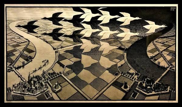 Maurits Cornelis Escher Art Print featuring the photograph Escher 116 by Rob Hans