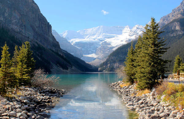 Tranquility Art Print featuring the photograph Fall At Lake Louise , Alberta, Canada by Cynthia Russell Photography
