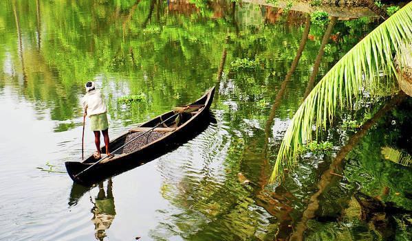 Scenics Art Print featuring the photograph Kerala Backwaters by Gopan G Nair