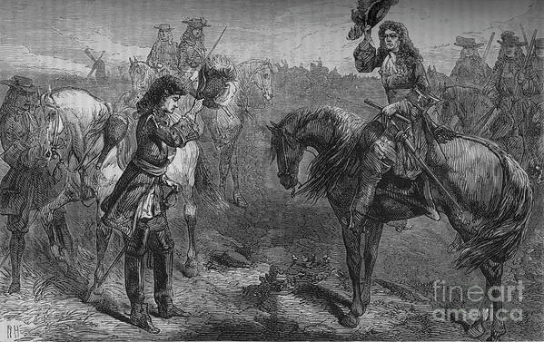 Horse Art Print featuring the drawing Meeting Of William IIi And The Duke by Print Collector