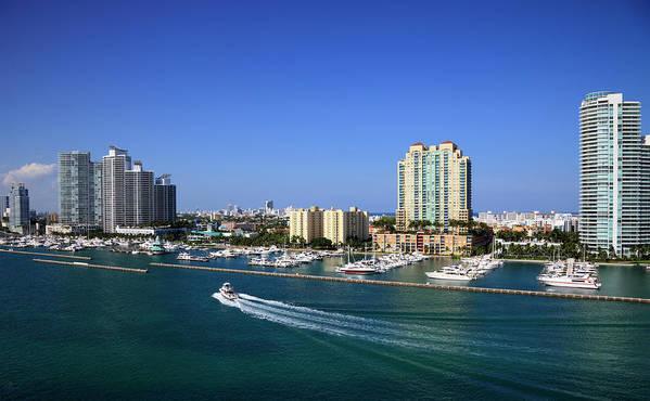 Built Structure Art Print featuring the photograph Miami Beach Marina by Jorgegonzalez