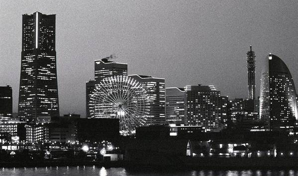 Yokohama Art Print featuring the photograph Night Scene Of Yokohama by Snap Shooter Jp