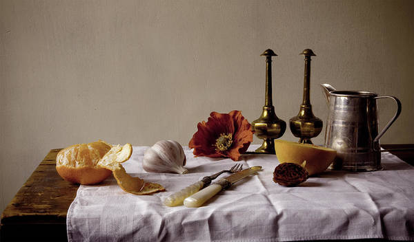 Orange Art Print featuring the photograph Old Kitchen Still Life by Pch