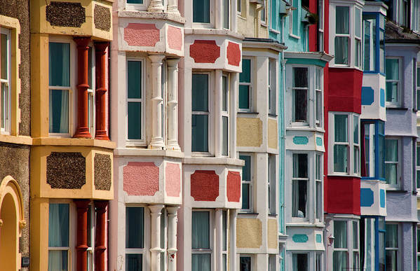 Row House Art Print featuring the photograph Seafront Houses, Aberdovey, Wales by David Tait