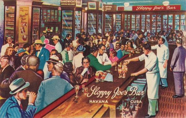 People Art Print featuring the photograph Sloppy Joes Bar, Havana, Cuba, 1951 by Print Collector