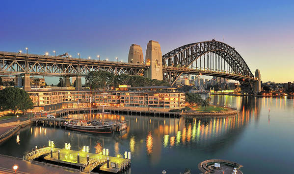 Built Structure Art Print featuring the photograph Sydney Harbour Bridge by Warwick Kent