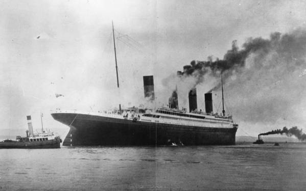1910-1919 Art Print featuring the photograph The Titanic by Topical Press Agency