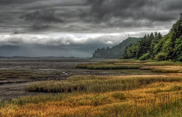 Scenics Art Print featuring the photograph Tillamook Estuary by Photo By Ryan J. Zeigler
