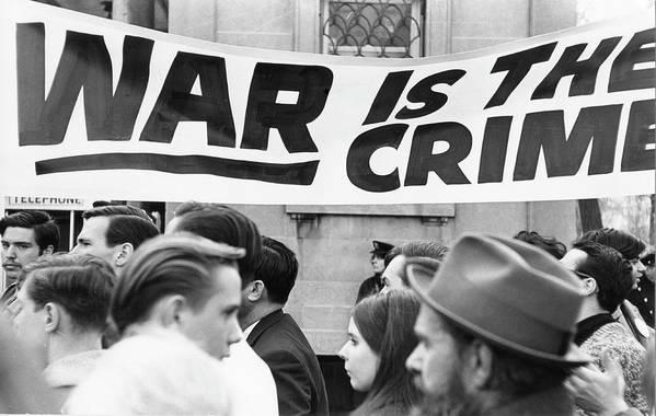 Vietnam War Art Print featuring the photograph War Is The Crime by Fred W. McDarrah