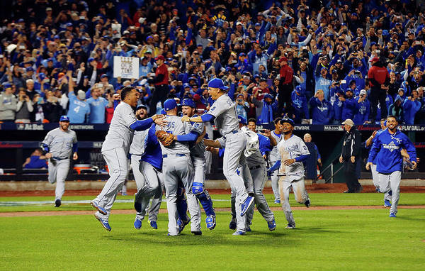 American League Baseball Art Print featuring the photograph World Series - Kansas City Royals V New by Jim Mcisaac