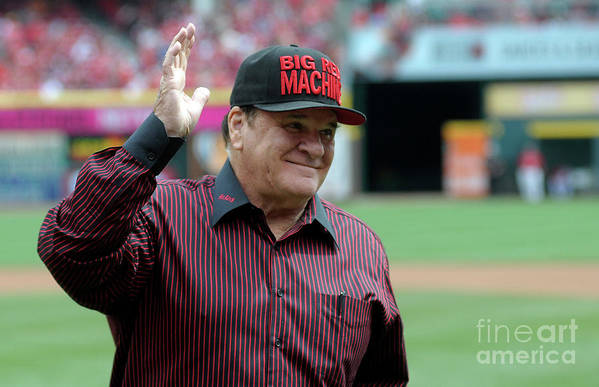 Great American Ball Park Art Print featuring the photograph Pete Rose by Dylan Buell