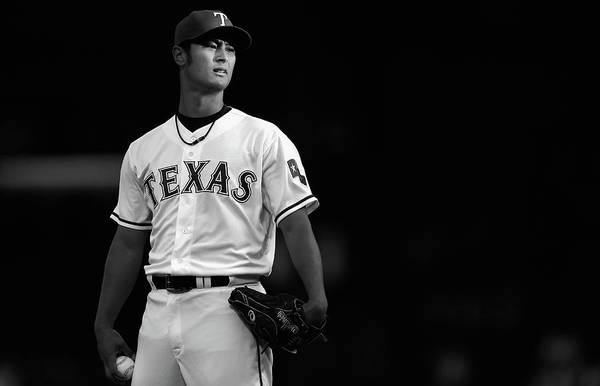 American League Baseball Art Print featuring the photograph Yu Darvish by Tom Pennington