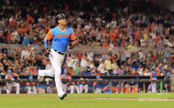 People Art Print featuring the photograph Giancarlo Stanton by Mike Ehrmann