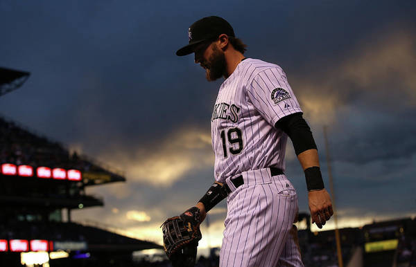 National League Baseball Art Print featuring the photograph Charlie Blackmon by Doug Pensinger