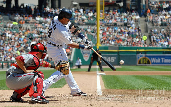 American League Baseball Art Print featuring the photograph Miguel Cabrera by Mark Cunningham