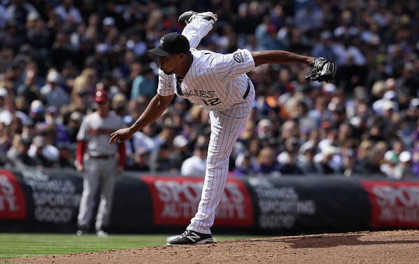 Baseball Pitcher Art Print featuring the photograph Juan Nicasio by Doug Pensinger