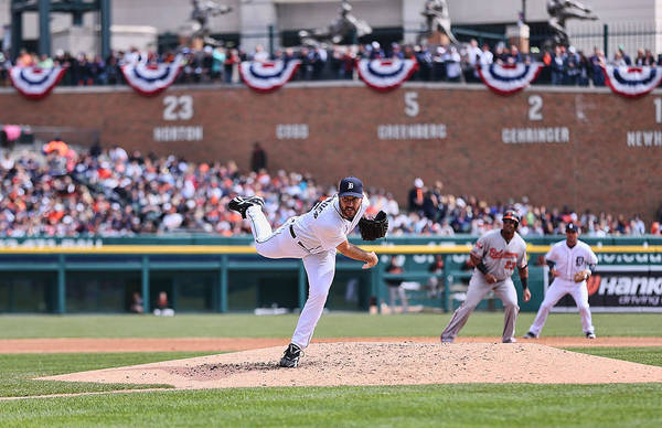 American League Baseball Art Print featuring the photograph Justin Verlander by Leon Halip