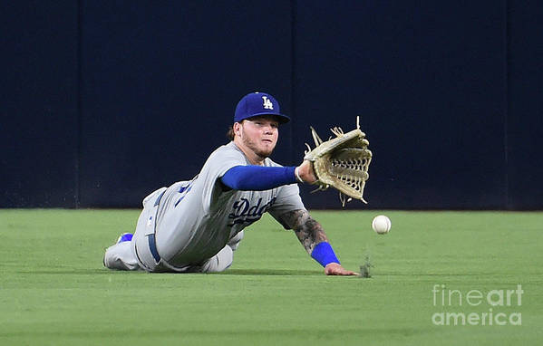 Game Two Art Print featuring the photograph Erick Aybar and Alex Verdugo by Denis Poroy