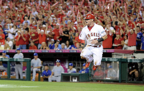 Game Two Art Print featuring the photograph Kole Calhoun by Harry How