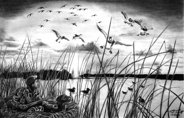 Looming Doom Art Print featuring the drawing Looming Doom by Peter Piatt
