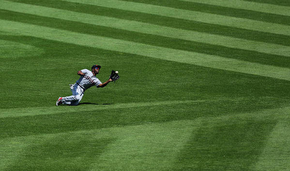 People Art Print featuring the photograph Michael Bourn and Alex Gordon by Ed Zurga