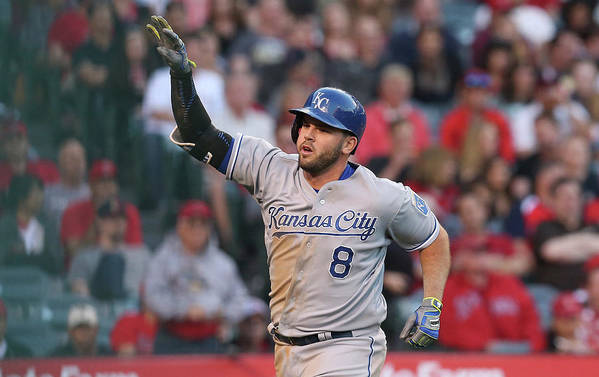 Three Quarter Length Art Print featuring the photograph Mike Moustakas by Stephen Dunn