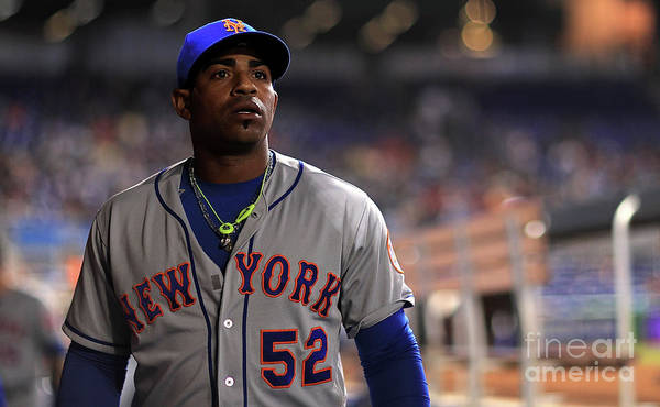 Yoenis Cespedes Art Print featuring the photograph Yoenis Cespedes by Mike Ehrmann