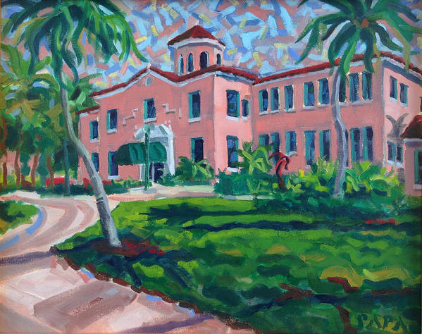 Delray Beach Art Print featuring the painting Old School at Delray by Ralph Papa