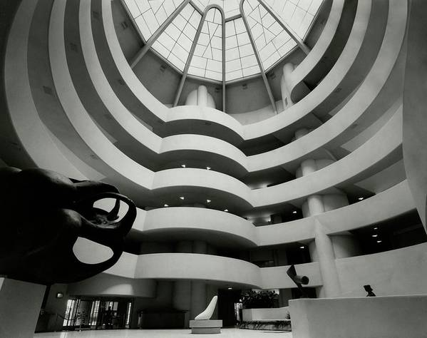 Frank Lloyd Wright Art Print featuring the photograph The Guggenheim Museum In New York City by Eveyln Hofer