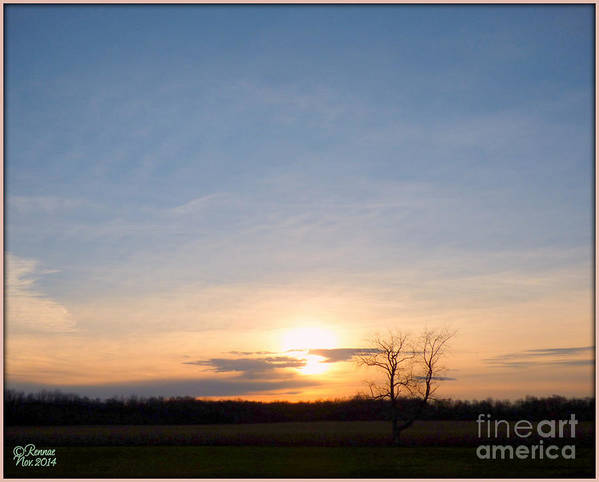 Landscape Art Print featuring the photograph Afternoon Sun by Rennae Christman