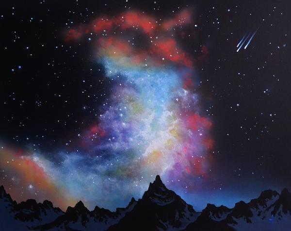 Aurora Borealis Art Print featuring the painting Aurora Borealis by Thomas Kolendra