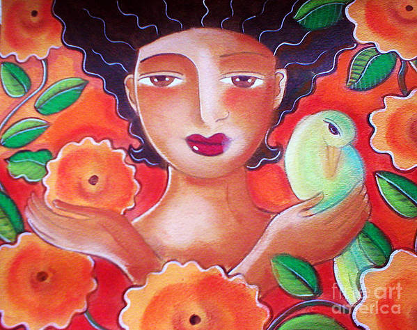 Tropical Art Print featuring the mixed media Choose for Reasons by Elaine Jackson
