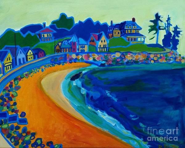 Beach Art Print featuring the painting Cliff House near Hampton Beach NH by Debra Bretton Robinson