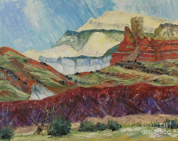 Mountain Art Print featuring the painting Ghost Mountain by Judith Espinoza