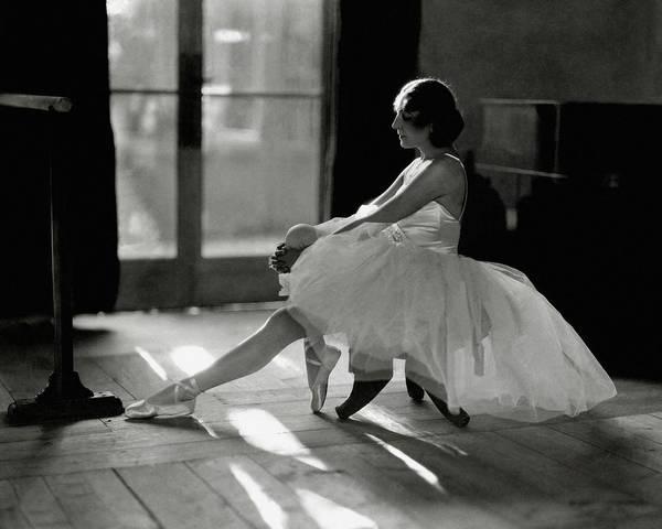 Dance Art Print featuring the photograph Ida Rubinstein Wearing A Tutu by Phyllis Abbe