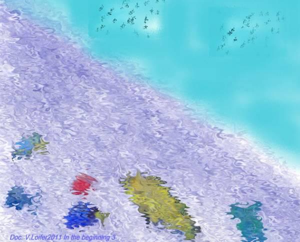 Creation Art Print featuring the digital art In the beginning 3 by Dr Loifer Vladimir