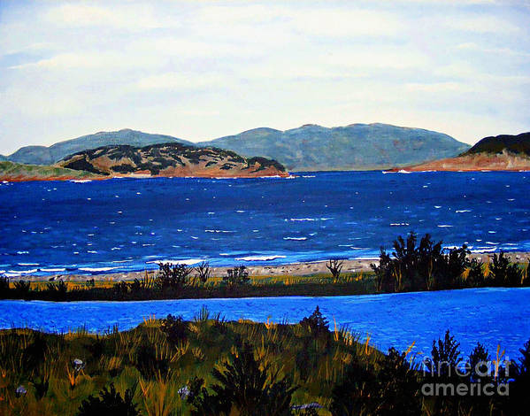 Islands Art Print featuring the painting Iona formerly Rams Islands by Barbara Griffin