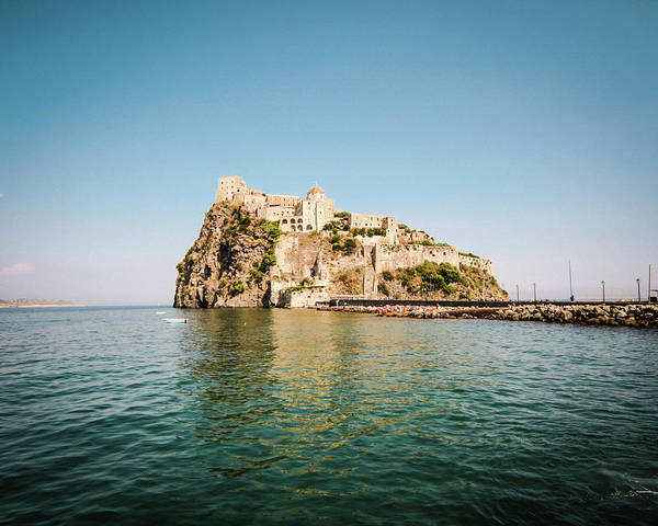 Tyrrhenian Sea Art Print featuring the photograph Ischia Island Castle by Angelafoto