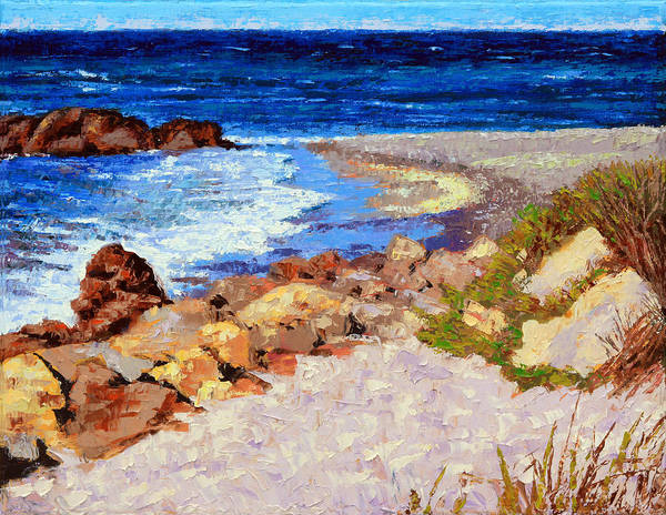 Ocean Art Print featuring the painting Ocean Patterns by John Lautermilch