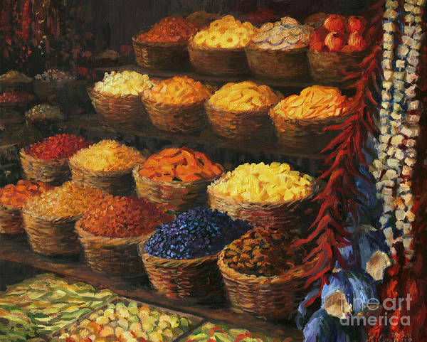 Fruits Art Print featuring the painting Palette of The Orient by Kiril Stanchev