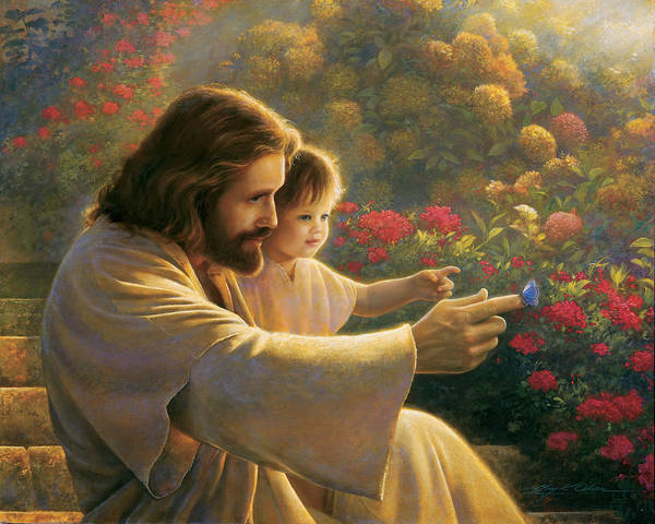 Jesus Art Print featuring the painting Precious In His Sight by Greg Olsen